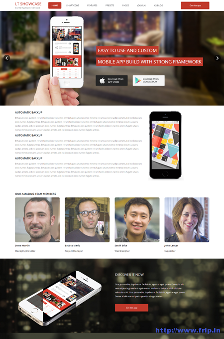 LT App Showcase Joomla Template