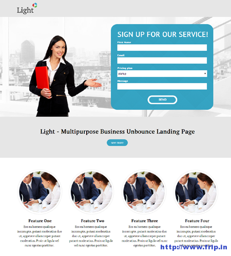 Light Business Landing Page