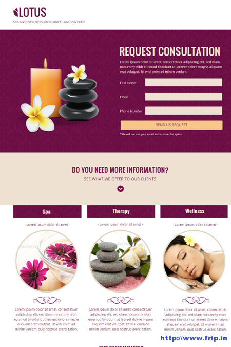 Lotus Spa & Wellness Page Template