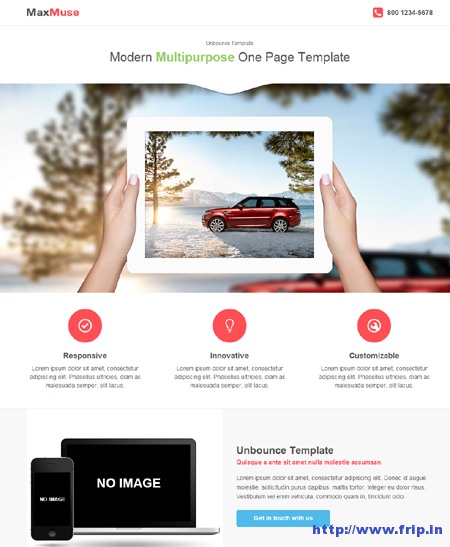 MaxMuse Unbounce Template