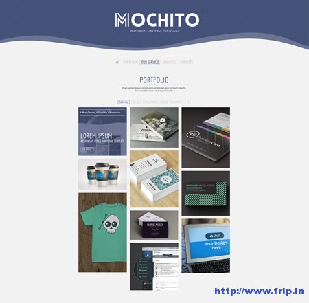 Mochito One Page Portfolio Template