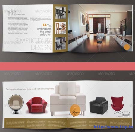 Modern Home Interior Design Brochure