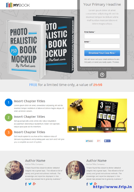 MyBook – Unbounce eBook Landing Page