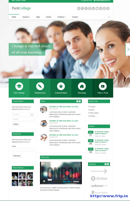 Park College Responsive WordPress Theme