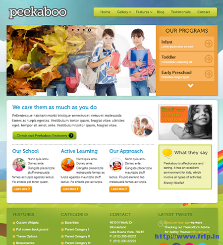 Pekaboo Children WordPress Theme