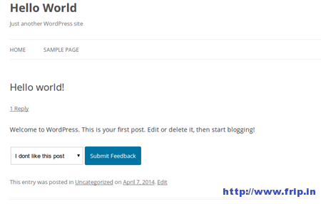 Post Feedback WordPress Plugin