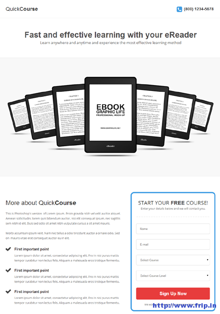 Quick Course Landing Page Template