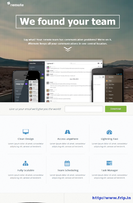 Remote Unbounce Landing Page Template