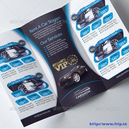Rent A Car Tri Fold Brochure