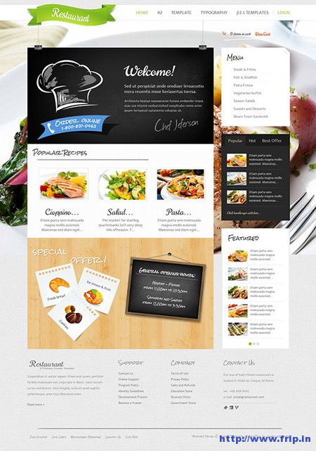 Restaurant & Food Joomla Template