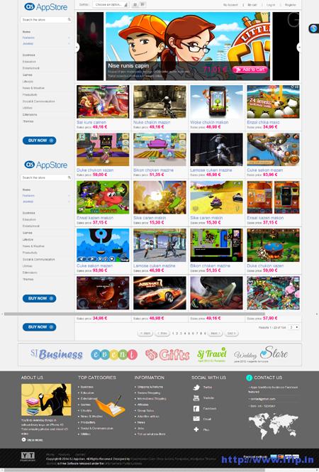 SJ App Store Joomla Template