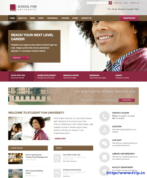 School Fun WordPress Theme