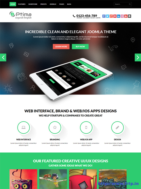 Shaper Optima Responsive Template