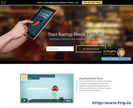 Startups Multipurpose Unbounce Template