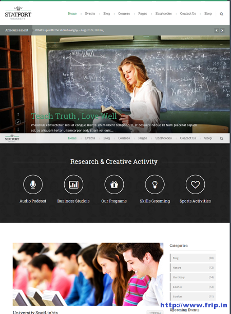 Statfort Education WordPress Theme