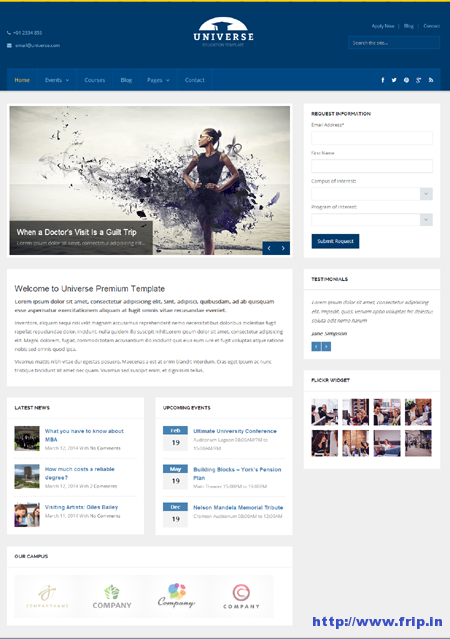 Universe Education WordPress Theme