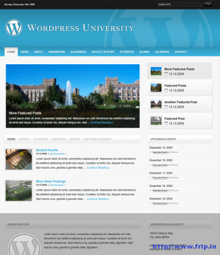 University WordPress Theme For Colleges