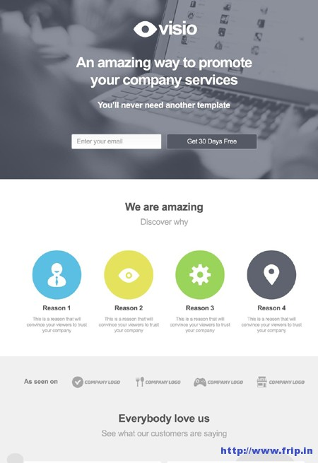 Visio Landing Page For Startups & Web Services