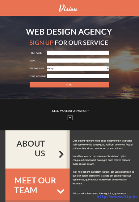Vision Agency Unbounce Landing Page