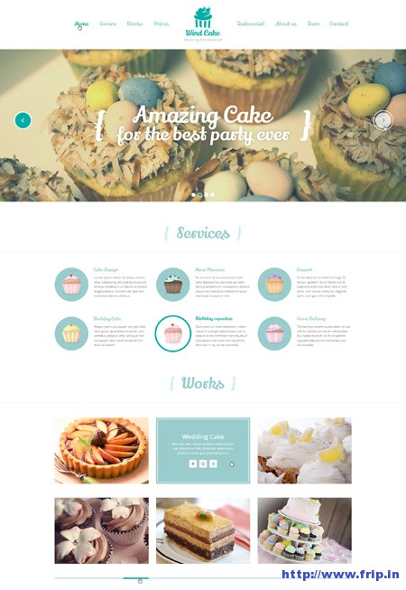 Wind Cake – One Page Template.
