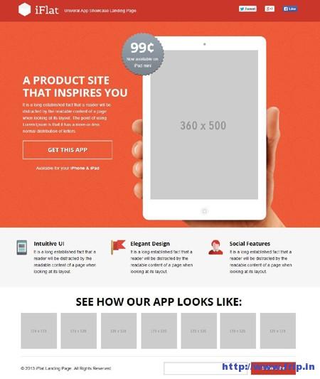 iFlat – Universal App Showcase Landing Page