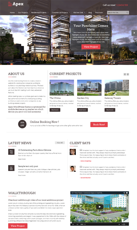 Apex Construction WordPress Theme