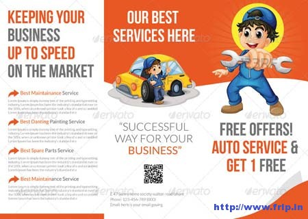 Automotive Tri Fold Brochure