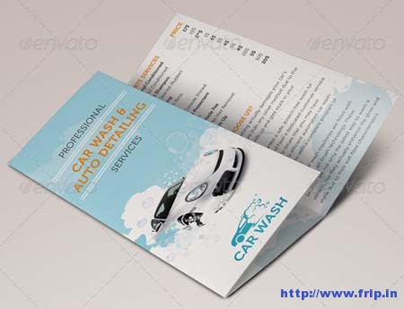 Car Wash Tri – Fold Brochure