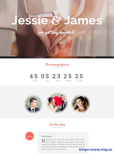 Ever After Responsive Wedding Invite Template