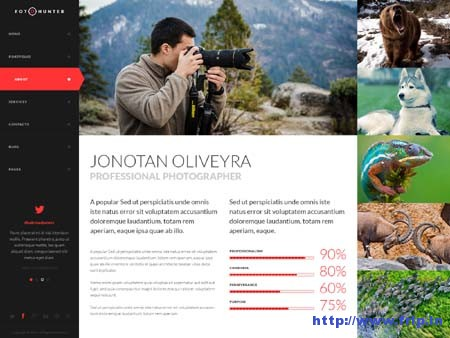 FotoHunter Creative Photographer PSD Template