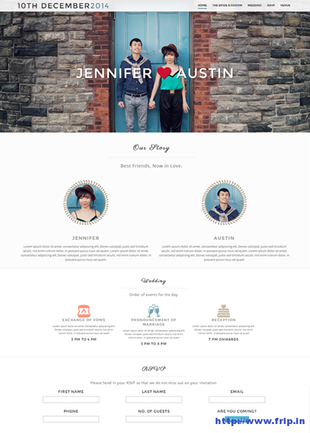 Hitched Wedding Website Template