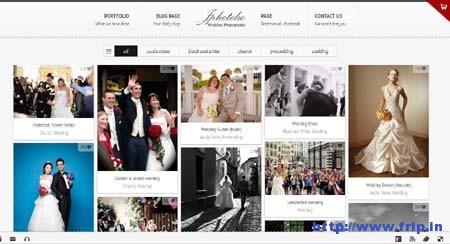 JPhotolio Responsive Wedding Template
