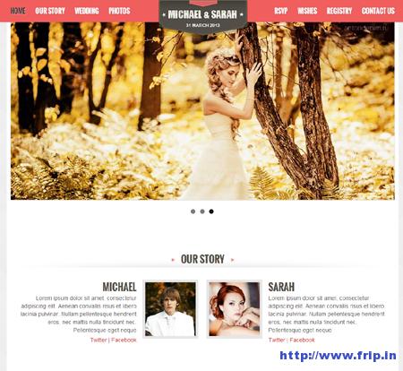 Kalyan One Page Wedding Template