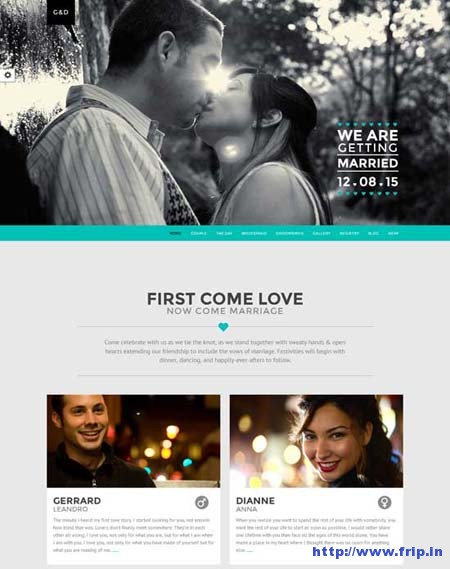 LUV Responsive One Page Wedding Template