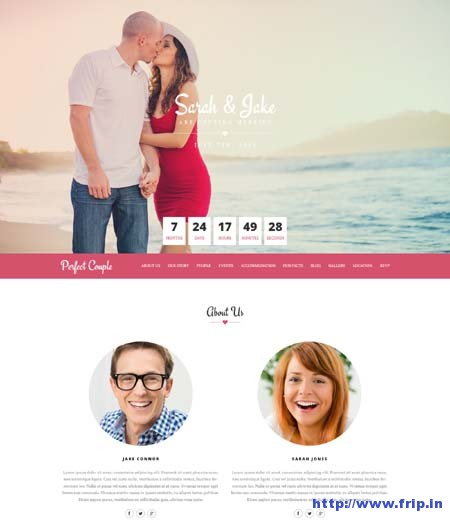 Perfect Couple Responsive Wedding Template