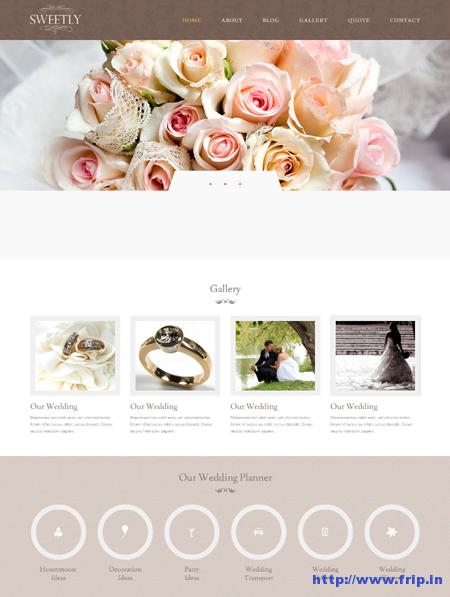 Sweetly Wedding HTML Template