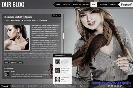 Vogue PSD Responsive FullScreen