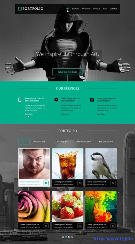 iPortfolio One Page PSD Template