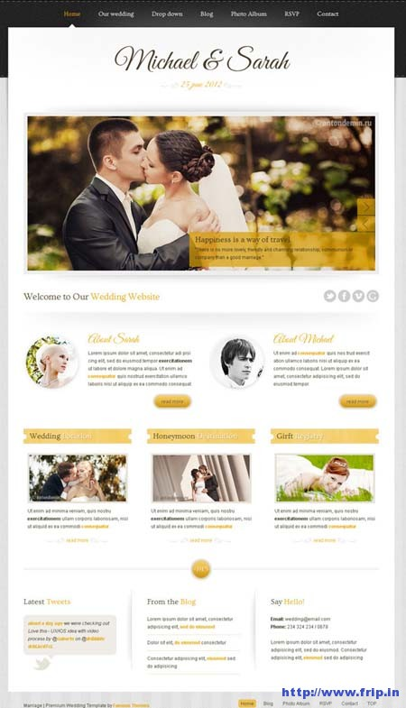marriage wedding-template