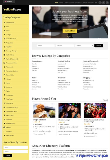 YellowPages-WordPress-Theme