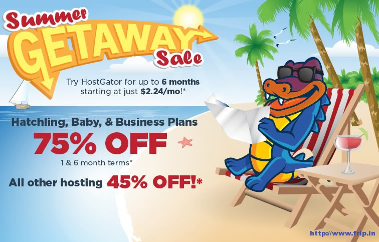 hostgator summer getaway sale