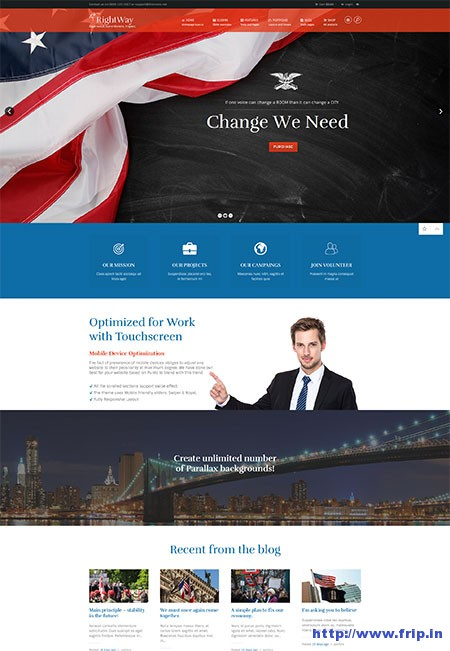right-way-political-wordpress-theme