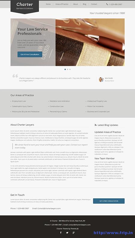 Charter WordPress Lawyer Theme