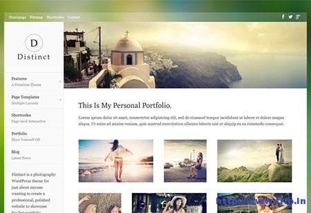Distinct Photography WordPress Theme