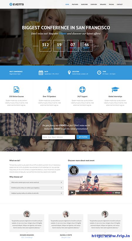 Event Responsive Landing Page Template
