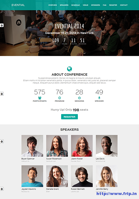Evential One Page Responsive Template