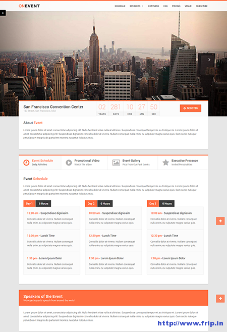 10 Best Event Landing Page Templates For Event Concerts