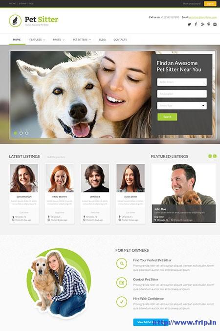 PetSitter-Job-Board-Responsive-Theme