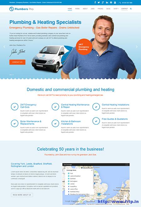 Plumbers Pro WordPress Theme