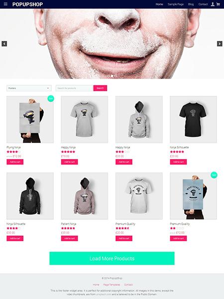 Pop Up Shop WordPress Theme